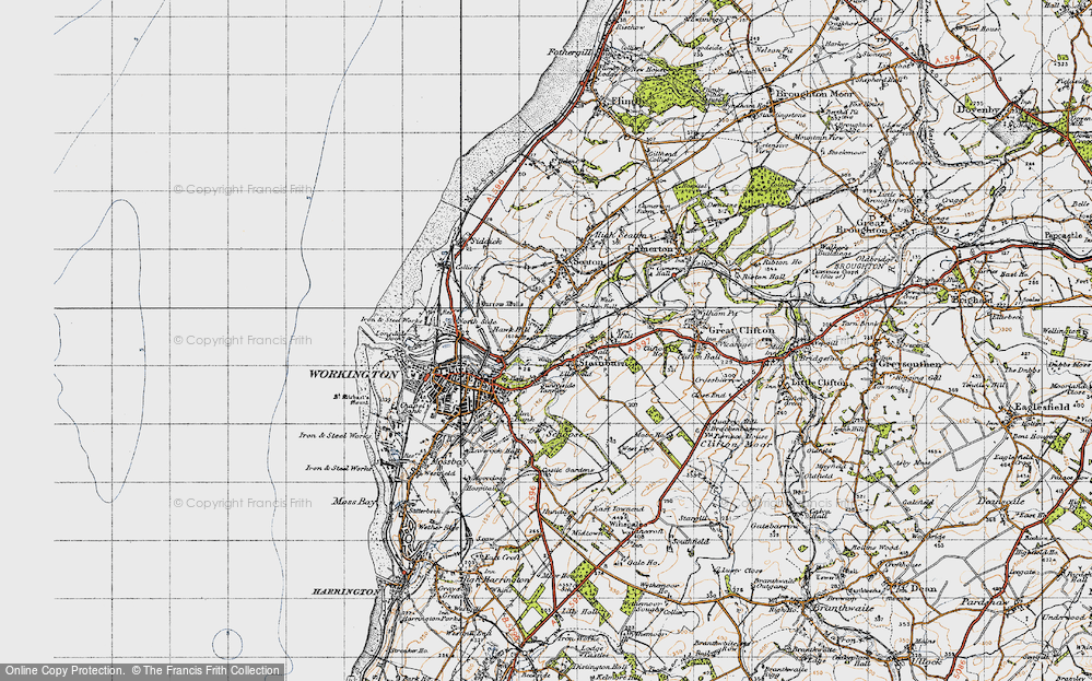 Old Map of Barepot, 1947 in 1947