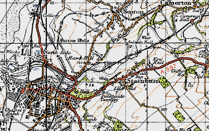 Old map of Barepot in 1947