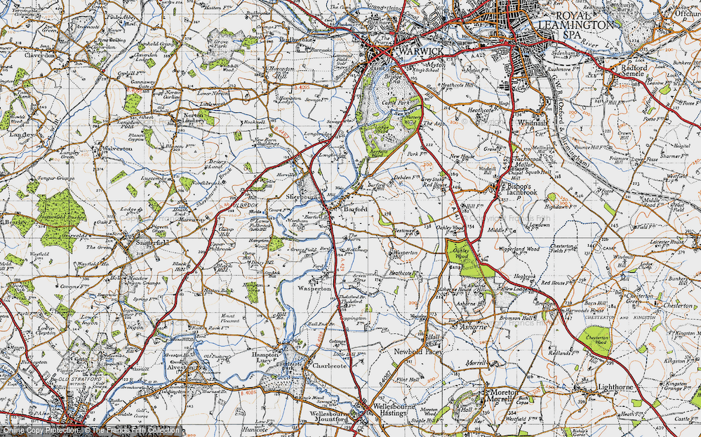 Old Map of Barford, 1947 in 1947