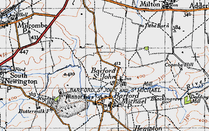 Old map of Barford St John in 1946