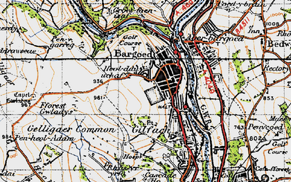 Old map of Bargod in 1947