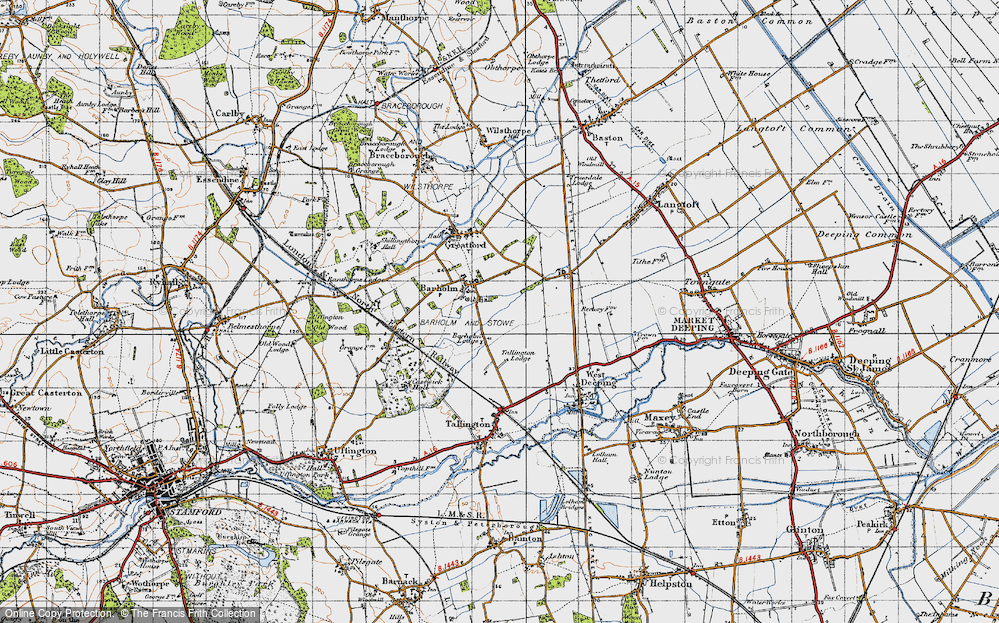Old Map of Barholm, 1946 in 1946