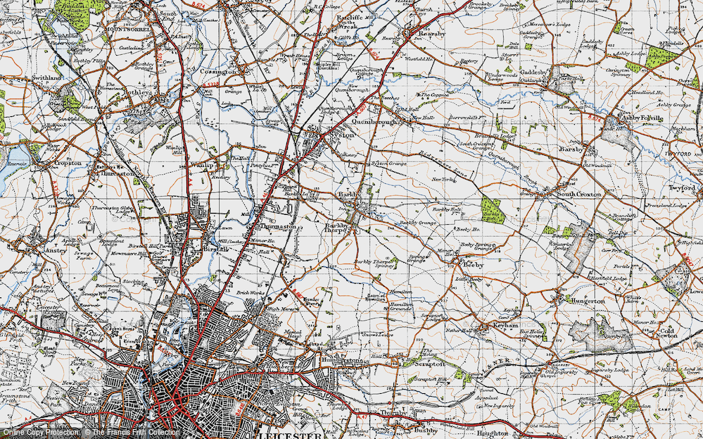 Old Map of Barkby, 1946 in 1946