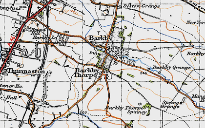 Old map of Barkby in 1946