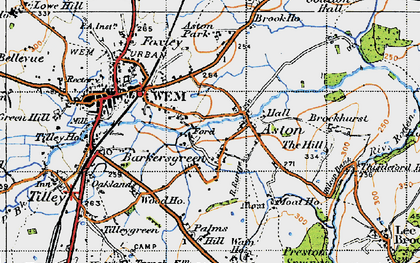 Old map of Aston Grange in 1947