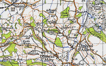 Old map of Barkers Hill in 1940
