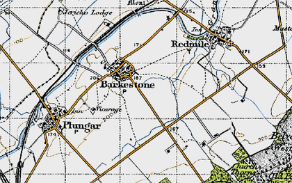 Old map of Barkestone-le-Vale in 1946