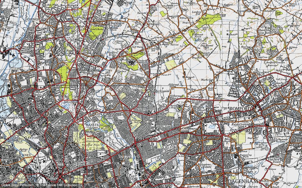 Old Map of Barkingside, 1946 in 1946