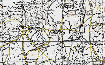 Old map of Barkla Shop in 1946