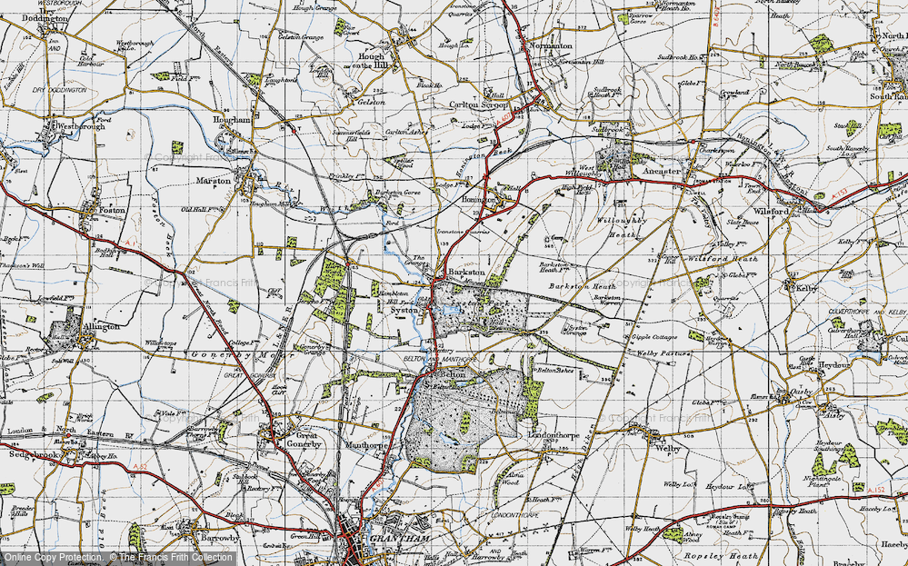 Old Map of Historic Map covering Barkston Heath in 1946