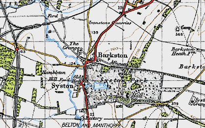 Old map of Barkston Granges in 1946