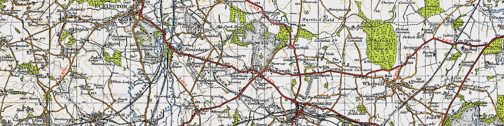 Old map of Barlborough in 1947