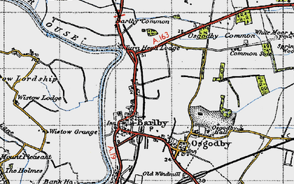 Old map of Barlby in 1947