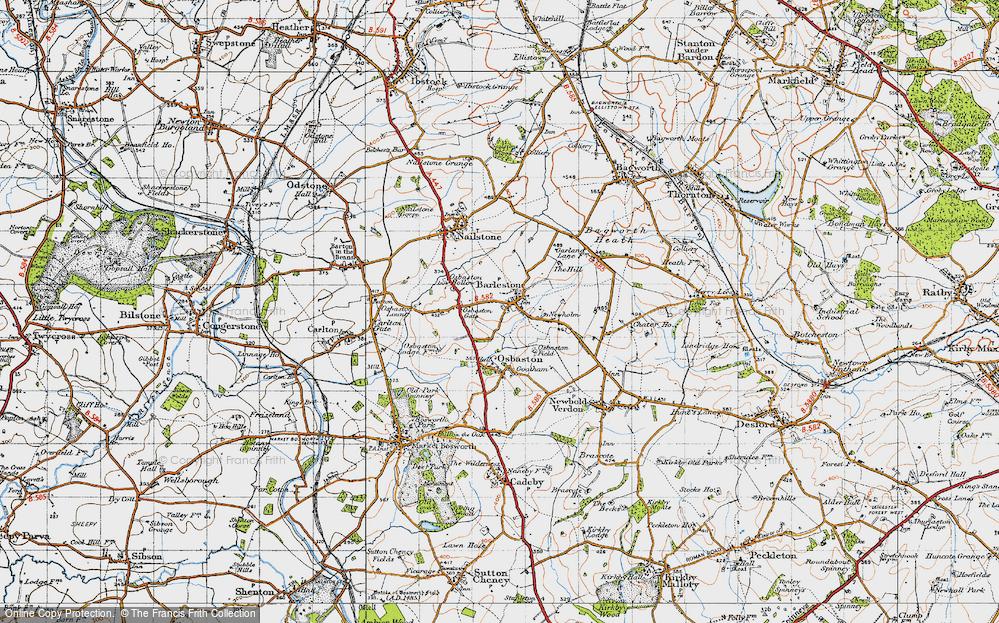 Old Map of Barlestone, 1946 in 1946