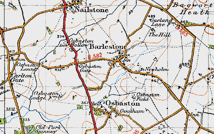 Old map of Barlestone in 1946