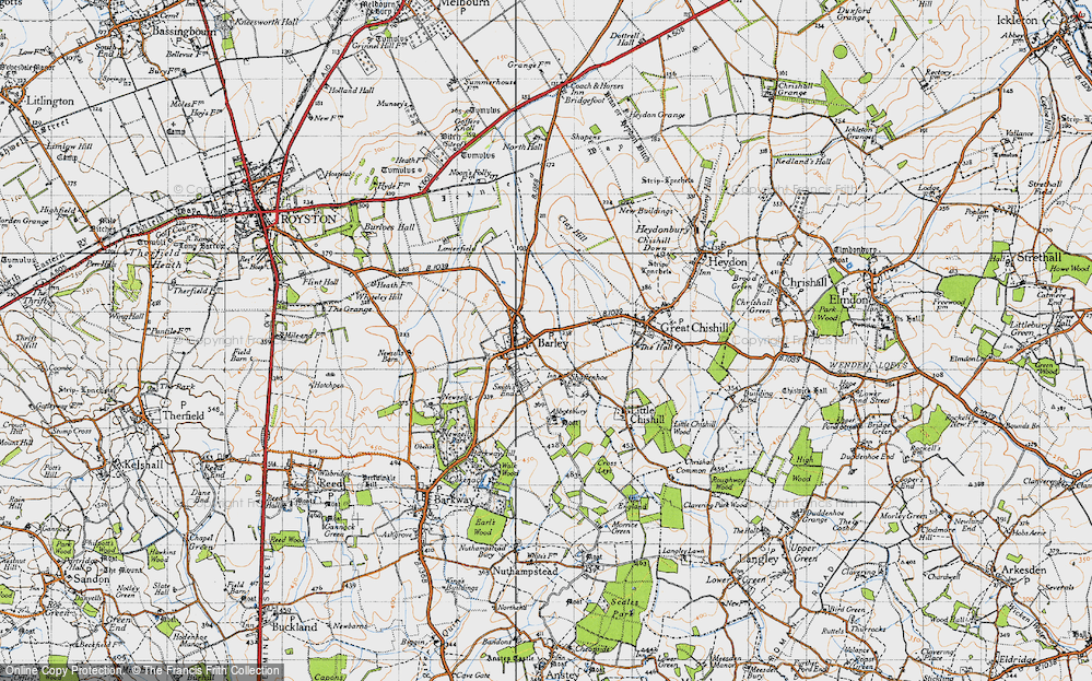 Old Map of Barley, 1946 in 1946