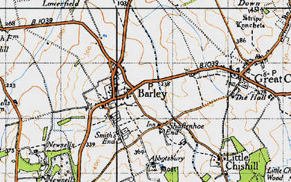 Old map of Barley in 1946