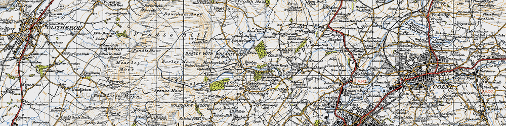 Old map of Aitken Wood in 1947