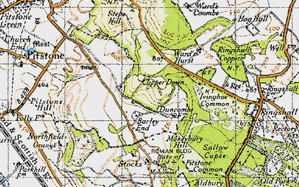 Old map of Barley End in 1946