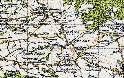 Old map of Barlow in 1947
