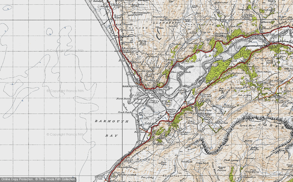 Old Map of Historic Map covering Y Perch in 1947