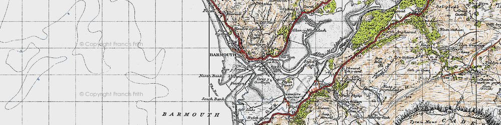 Old map of Y Perch in 1947