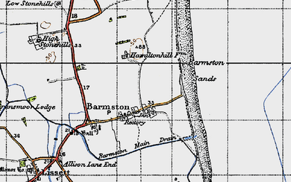 Old map of Barmston in 1947