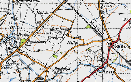 Old map of Barnacle in 1946