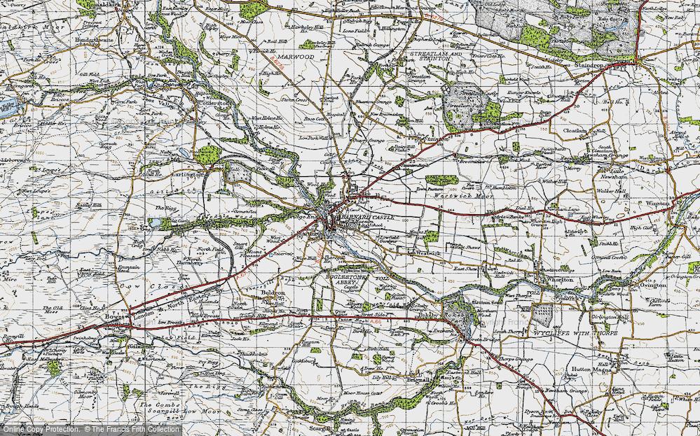 Old Map of Barnard Castle, 1947 in 1947