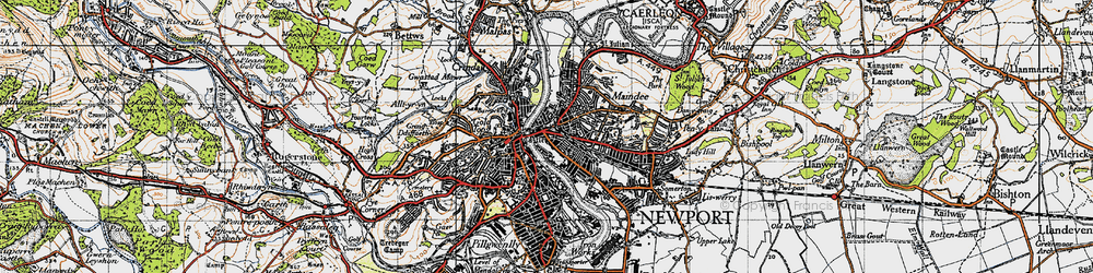Old map of Barnardtown in 1946