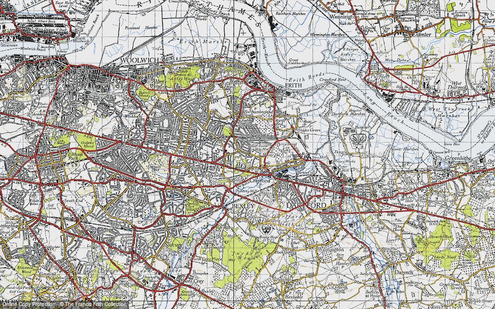 Old Map of Barnehurst, 1946 in 1946