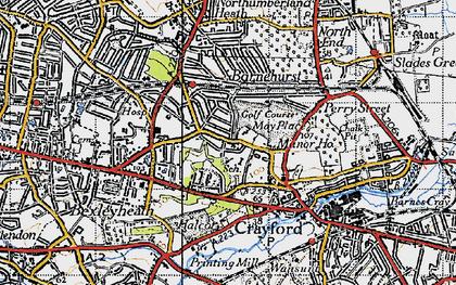 Old map of Barnehurst in 1946