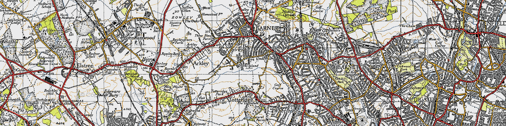 Old map of Barnet in 1946