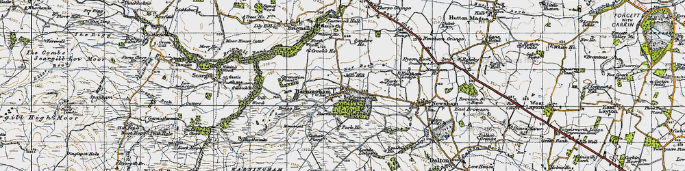 Old map of Barningham in 1947