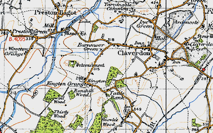 Old map of Barnmoor Green in 1947