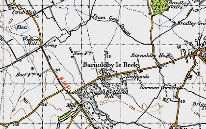 Old map of Barnoldby le Beck in 1946