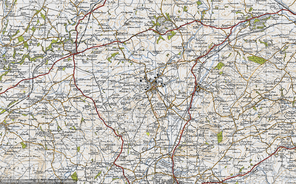 Old Map of Barnoldswick, 1947 in 1947