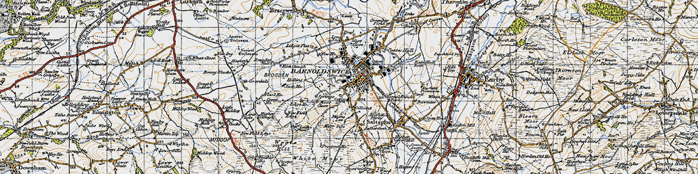 Old map of Barnoldswick in 1947