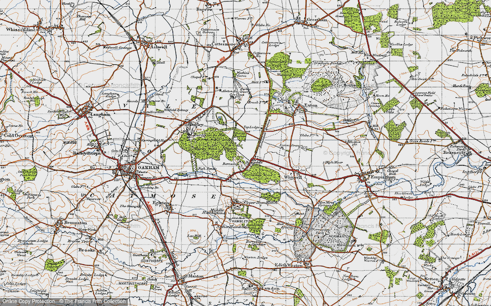 Old Map of Barnsdale, 1946 in 1946