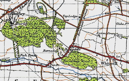 Old map of Barnsdale in 1946