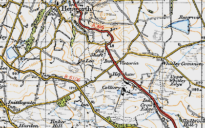 Old map of Law in 1947