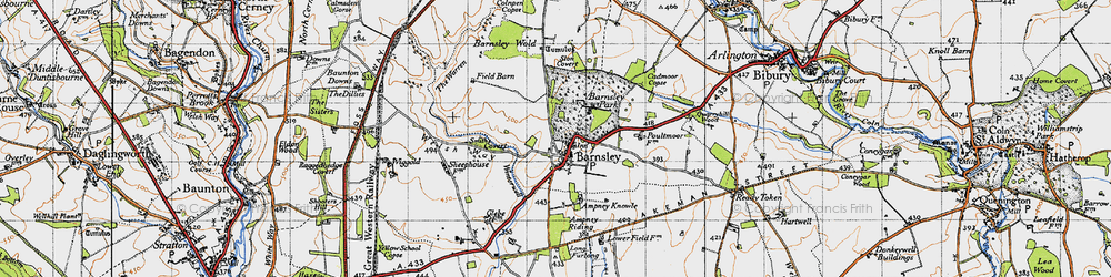 Old map of Ampney Sheephouse in 1947