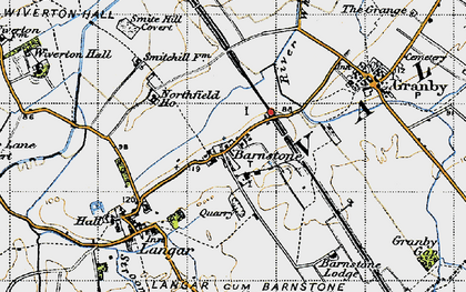 Old map of Whatton Fields in 1946