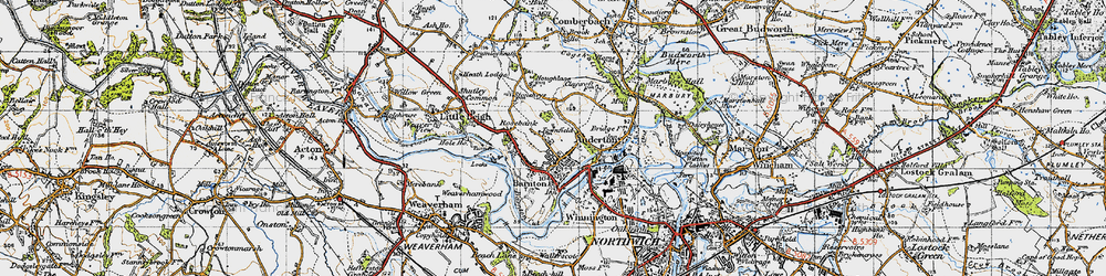 Old map of Barnton in 1947
