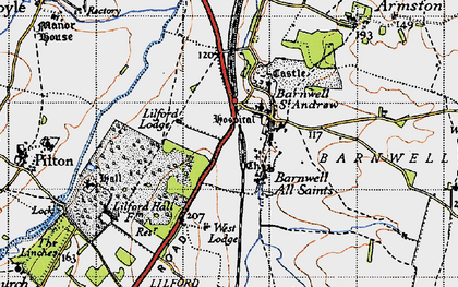Old map of Barnwell in 1946