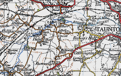 Old map of Barr in 1946