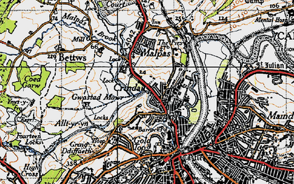 Old map of Barrack Hill in 1946