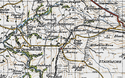 Old map of Woofergill in 1947