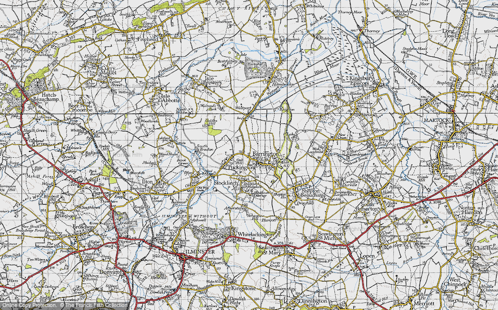 Old Map of Barrington, 1945 in 1945