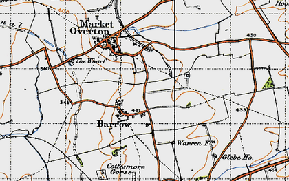 Old map of Barrow in 1946